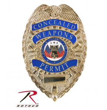 concealed carry weapon permit,concealed carry badge,badge,shield,deluxe badge,deluxe,ccw,CC Weapon badge,concealment