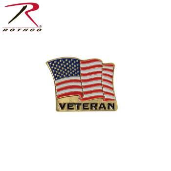 Veteran pin, US flag pin, pin,