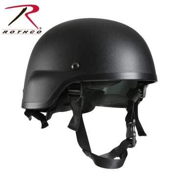Rothco, Abs, Mich-2000, Replica, Tactical, Helmet, military helmet, tactical helmet, mich 2000 cover, mich replica helmet, law enforcement helmets, nylon chin strap, airsoft, airsoft helmet, black, black helmet