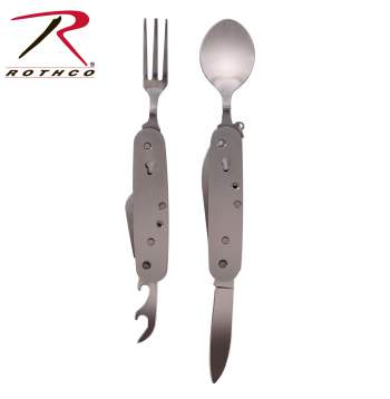 Rothco Folding Chow Set, Rothco Stainless Steel Chow Set, Rothco Chow Set, Rothco Stainless Steel folding Chow Set, folding chow set, stainless steel folding chow set, stainless steel chow set, chow set, stainless steel flatware, stainless steel flatware set, chow kit, folding chow kit, eating set, fork, utensils, knives and forks, camping, cooking set, camping chow set, military cooking set, military chow kit, survival, survival tools, survival gear, utensils set, stainless steel, stainless steel utensils, stainless steel folding utensils, folding utensils