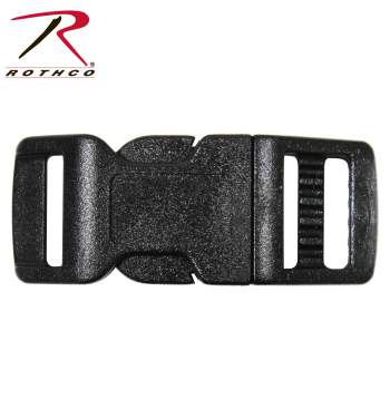 Rothco, 1/2 Inches Side Release Buckle, wholesale buckles, paracord buckle, plastic buckle, release buckle, side buckle, strap buckles, side release, paracord accessory, paracord accessories
