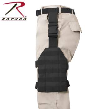Rothco MOLLE Drop Leg Panel, MOLLE drop leg panel, rothco drop leg panel, molle gear, molle system, molle panel, drop leg holster, drop leg holsters, tactical, tactical drop leg holster, holster, holsters, gear, military gear, tactical gear,drop leg rig, black, black drop leg rig, utility leg rig, leg rig, leg rigs, leg rig holsters, tactical assault gear, spec ops gear, duty gear, drop leg, molle gear, tactical clothing, tactical equipment, tactical leg holster,