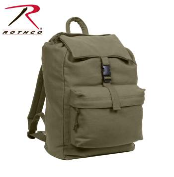 backpack,back pack,canvas bag,military canvas bag,day pack,back pack bags, rothco canvas bags, rothco day pack, rothco canvas backpack, rothco bags, canvas rucksack, Rothco Canvas Daypack, Canvas Daypack
