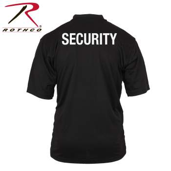 Rothco Moisture Wicking Security Polo Shirt With Back Print Only