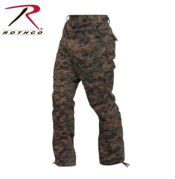 ROTHCO 2710 Vintage Tiger Stripe Camouflage Paratrooper Pants Tactical Military