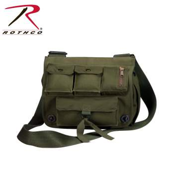 Venturer Survivor Shoulder Bag, shoulder bag, venturer shoulder bag, bag, bags, canvas bag, canvas shoulder bag, venturer, heavyweight canvas, water repellent nylon interior, olive drab, black, wholesale shoulder bag, crossbody bags, cross body bags, rothco bags, rothco messenger bags, rothco canvas bags