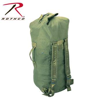 Duffle bag, duffle, military duffle bag, double strap duffle bag, military duffle bag, military bag, military duffle, duffle bag with straps, double strap duffle bag, double shoulder strap, Rothco G.I. Type Enhanced Double Strap Duffle Bag