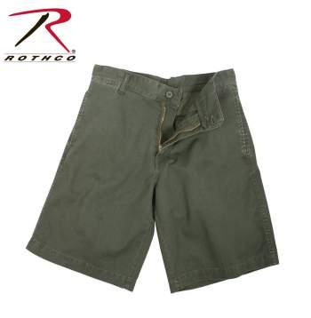 Flat front shorts,vintage shorts,vintage military shorts,military flat front shorts,chino shorts,5 pocket shorts,shorts with pockets,olive drab shorts,OD shorts,OD,vintage collection