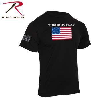 """Rothco """"This Is My Flag"""" T-Shirt, this is my flag shirt, us flag shirt, us flag t-shirt, American flag shirt, American flag print shirt, American flag t-shirt, USA flag shirt, patriotic clothing, patriotic t-shirts, American flag clothing, shirt USA flag, flag shirt, 4th of July shirt, American flag apparel"""