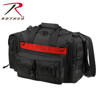 thin red line, thin red line concealed carry bag, concealed carry bag, concealed carry shoulder bag, thin red line products, thin blue line, tactical bag, tactical duffle bag, tactical shoulder bag, cc bag, firefighters, fire department, tactical concealed carry bag, tactical duffle bag