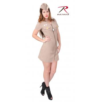 Rothco Women's Khaki Military Costume, costume, halloween costumes, military costume, womens costume, khaki, khaki military costume