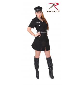 Rothco Women's Black Police Costume, costume, halloween costume, police costume, womens black police costume, halloween, rothco, costumes, womens costumes, rothco