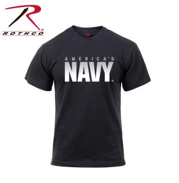 Rothco Athletic Fit America's Navy T-Shirt, Athletic fit tshirt, Americas Navy tshirt, Americas Navy shirt, Americas Navy tee, Americas Navy, military branch tshirts, military shirts, athletic tees, black tshirts, black tees, athletic fit shirts, navy tshirt, army tshirt, marines tshirt, coast guard tshirt, licensed navy shirt, us navy