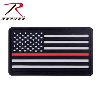 rubber, PVC, thin red line, thin red line flag, flag patch, firefighters, morale patch,