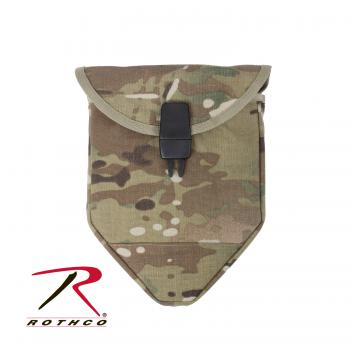 Rothco MultiCam MOLLE Compatible Shovel Cover Features 2 Molle Straps For Ease Of Attachment With A Secure Buckle Closure And Will Fit Our Tri-Fold Shovel Cover. The Cover  Is Made From 1000D Cordura Nylon Multicam ® Fabric ,Multicam Fabric Is Licensed Through Crye Industries.