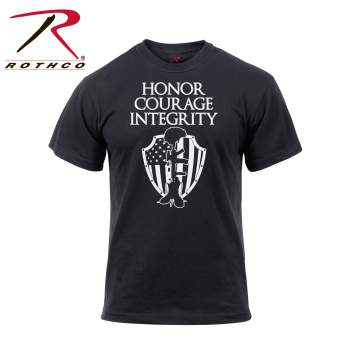 Rothco, Graphic T shirt, graphic tee, honor courage integrity, military, slogan, army, navy, marines, American flag, us flag, military t-shirt, army t-shirt, solider t-shirt, tee shirt, tshirt, flag t-shirt, us flag t-shirt,
