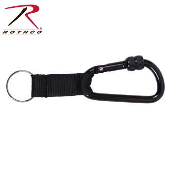 Rothco 80mm Locking Carabiner With Web Strap Ring, 80mm Locking Carabiner With Web Strap Ring, Locking Carabiner With Web Strap Ring, locking carabiner, carabiner, Rothco locking carabiner with web strap ring, Rothco locking carabiner, carabiners, carabiner clips, climbing carabiner, carabiner clip, carabiner with ring, locking carabiner clip, locking carabiner clips, climbing clips, carabiner keychain, keychain, carabineer, key rings, keychains,