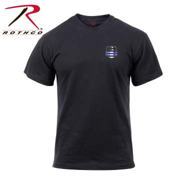 rothco thin blue line shield t-shirt, thin blue line shield t-shirt, thin blue line shirt, thin blue line shield, thin blue line, police shield, police shield t-shirt, police shield shirt, law enforcement t-shirt, police shirt, thin blue line police shirt, police tees, athletic t shirt, athletic tee, fitted t shirt<br />
