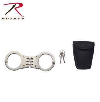 hinged handcuffs,hand cuffs,hinged handcuff,hinge cuffs,hand cufs,hand cuff,cuffs,manacles,chain cuffs,military tactical equipment,military gear,police gear,police supplies,police cuffs,handcufs,restraints,Nickel plated,nick plated,