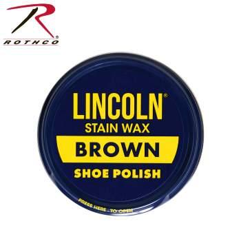 Stain Wax Shoe Polish, Lincoln stain wax shoe polish, stain wax shoe polish, wax shoe polish, shoe polish, shoe wax, shoe shine, military shoe polish, army shoe polish, boot polish spit shine, wax, clear shoe shine, clear shoe polish, clear shoe wax, black shoe shine, black shoe polish, black shoe wax, Lincoln shoe polish,