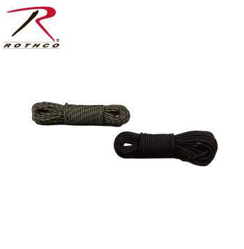 Rothco,Utility Rope,rope,string rope,cordage,rope and cord,paracord 550,paracord,para cord,ropes,camo paracord,rappelling gear,survival gear,climbing equipment,camo utility rope,50 ft utility rope,black paracord,black utility rope