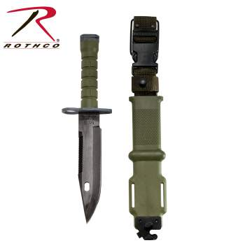 GI Type M-9 Bayonet, government issue bayonet, bayonet, knife, knives, olive drab bayonet, olive drab knife, olive drab knives, stainless steel blade, olive drab,zombie,zombies