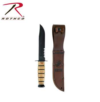 Genuine Ka-bar USMC Combo Edge Fighting Knife,fighting knife,marines knife,marines,kabar knife,kabar knives,combo edge fighting knife,zombie,zombies