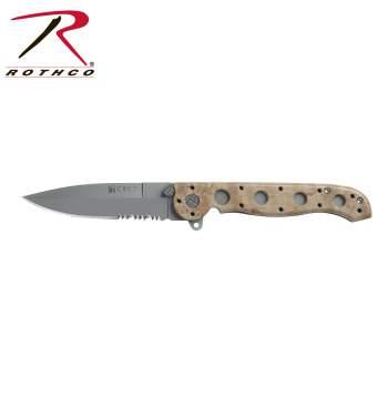 Knife Crkt M16-13ZMI,folding knife,folding knives,knife,knives,crkt knife,camo,camo knife,camo knives,serrated blade,tactical knife,tactical knives,desert camo,zombie,zombies