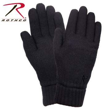 rothco fleece lined gloves, fleece lined gloves, lined gloves, gloves, fleece gloves, insulated gloves, fleece lining, fleece insulated gloves, fleece-lined gloves, knit gloves, cold weather gloves,