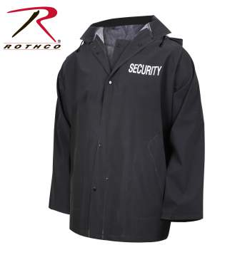 rain jacket, rain wear, waterproof rain jacket, waterproof jacket, security jacket, security clothing, security rain jacket,