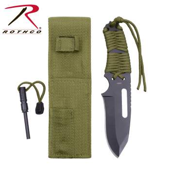 Rothco large paracord knife with fire starter, large paracord knife with fire starter, paracord knife with fire starter, paracord knife, fire starter, large paracord knife, paracord, para cord, parachute cord, od, olive drab, orange, olive drab paracord, olive drab paracord knife, olive drab paracord knife with fire starter, orange paracord, orange paracord knife, orange paracord knife with fire starter, Black paracord, Black paracord knife, Black paracord knife with fire starter, 550 cord, 550 paracord, survival, survival knife, survival knives, paracord knives, knife fire starter, knives, knife, parachute cord knife, cord, paracord knife fire starter, knife with fire starter, flint, magnesium fire starter, hunting knife, tactical, hunting knives, bug out bag, starter flint, starter magnesium, paracord fire starter, survival fire starter, survival gear, outdoor survival gear, wilderness survival gear, gear for survival