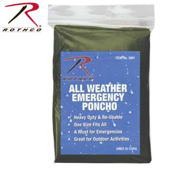 emergency poncho, poncho, wet weather item, ponchos, survival item, survival gear, emergency supplies, emergency gear, survival supplies, survival equipment, outwear, outdoor gear, outdoor accessories, outerwear, rain gear, rain jackets, rain poncho, rain ponchos, all weather poncho,