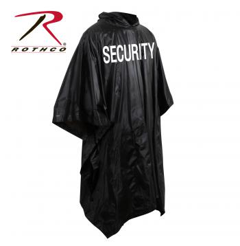 poncho, security, security poncho, wet weather gear, rain gear, rain coat, raingear, ponchos, vinyl ponchos, security guard poncho
