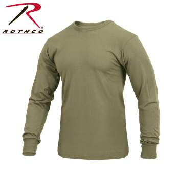 Rothco Long Sleeve Solid T-Shirt, long sleeve t-shirt, long-sleeve t-shirt, t-shirts, tee shirts, t-shirt, long sleeve shirt, t-shirt, long sleeve shirt, casual top, casual top, poly cotton t-shirt, poly/cotton shirt, long sleeve shirt, military-style long sleeve shirt, long sleeve casual shirt, solid color long sleeve