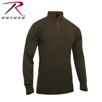 sweater, 3 button sweater, military style sweater, rothco 3 button sweater, knit sweater, military style, military clothing, pullover, pullover sweater, 3 button pullover, cold weather sweater, cold weather apparel