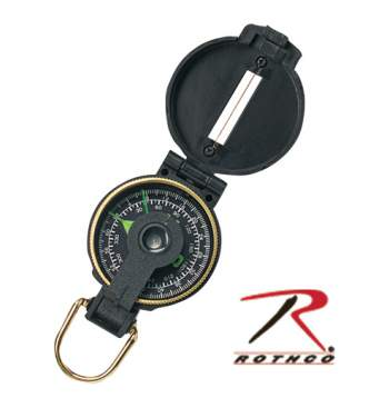 Rothco Lensatic Plastic Compass, Lensatic Plastic Compass, Lensatic Compass, Engineer Lensatic Compass, Compass, Engineer Compass, Navigation, Plastic Compass, Survival Tools, Military Compass, Tactical Compass, Army Compass, outdoor compass, survival compass, Lensatic Compass