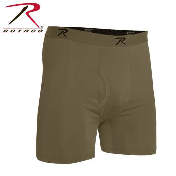 Rothco Moisture Wicking Performance Boxer Shorts, boxer shorts, performance boxer shorts, moisture wicking boxer shorts, moisture wicking boxers, performance boxers, mens boxers, boxer briefs, mens boxer briefs, short boxers, breathable moisture wicking boxer shorts, moisture wicking boxer briefs, moisture wicking underwear, base layer, military underwear, tactical undewear