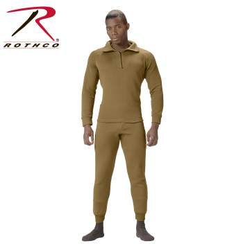 Rothco, ECWCS underwear, Army ECWCS, Gen 3 ECWCS, underwear, Zip Top, extreme cold, cold weather, poly clothing, poly top, poly underwear, foilage, soft fleece, fleece, extended cold weather system, poly, polyester, extreme cold weather clothing, ECWCS, military cold weather gear, cold weather gear, military winter gear