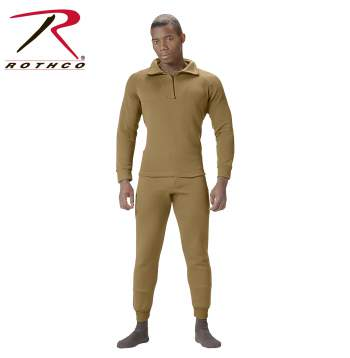 Rothco,ECWCS,extreme cold,cold weather,gen 3 ECWCS,army ECWCS,polypro clothing,poly pro bottom,ECWCS bottom,polypropylene underwear,Foliage,soft fleece,fleece,thermal underwear,fleeced lined top,polyproplene,poly pro underwear,Desert sand,Sand,fleeced lined, polyester, poly,extreme cold weather clothing,extended cold weather clothing system,military cold weather gear,cold weather gear,military winter gear,army ecwcs