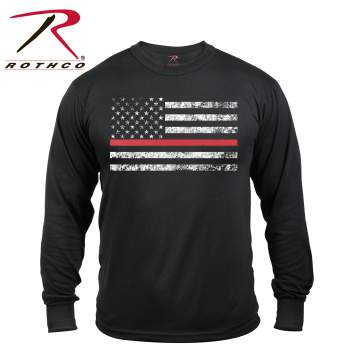 rothco red thin line flag t-shirt, red thin line, red line line t shirt, red thin line flag shirt, thin red line firefighter, thin red line flag, thin red line shirt, thin red line t-shirt, thin red line t shirt, fire fighter shirt, firefighter shirt, firefighter t shirt, firefighter shirt, firefighter support, long sleeve, sleeve