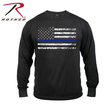 39eea764 rothco long sleeve thin blue line t-shirt, thin blue line, thin blue
