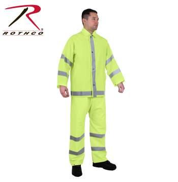 reflective rain jacket, reflective rain gear, hi vis rain gear, high visibility rain gear, high visibility jacket, high visibility, hi vis clothing, high visibility rain jacket, rain suit, safety rain gear
