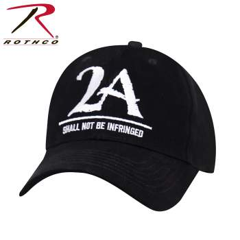 """Rothco 2A """"Shall Not Be Infringed"""" Low Profile Cap - Black, 2A Hat, 2nd amendment hat, gun hat, pro-gun hat, gun hat, NRA hat, top gun hat, low profile cap, low profile hat, low crown hat, low profile trucker hat, baseball hat, fitted ball caps, tactical hat, police hat"""
