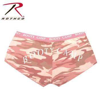 Rothco Baby Pink Camo Booty Camp Booty Shorts, booty camp, booty shorts, pink camo, underwear, loungewear
