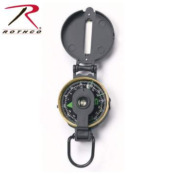 Rothco Lensatic Metal Compass, Lensatic Metal Compass, Lensatic Compass, Engineer Lensatic Compass, Compass, Engineer Compass, Navigation, Metal Compass, Survival Tools, Military Compass, Tactical Compass, Army Compass, outdoor compass, survival compass, Lensatic Compass