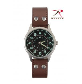 military style watch, leather watch, leather straps, leather strap watch