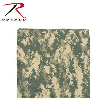 Rothco Bandana,bandana,headwear,camo accessories,Desert Digital Camo bandana,Desert Digital Camo headwear,Woodland Digital Camo bandana,Woodland Digital Camo headwear,ACU Digital Camo bandana,ACU Digital Camo headwear, bandanas, kerchief