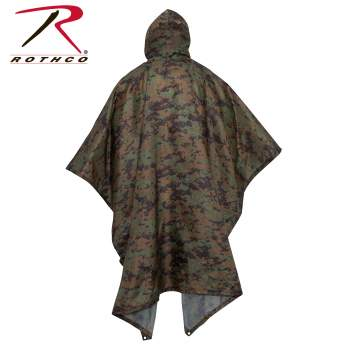 Poncho polyester Ripstop Coyote Brown par Rothco 4958