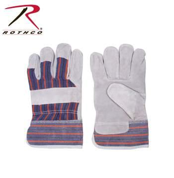 work gloves,gloves,glove,workmans glove,yardwork glove,yard work glove,home improvement glove,leather work gloves,rothco work gloves