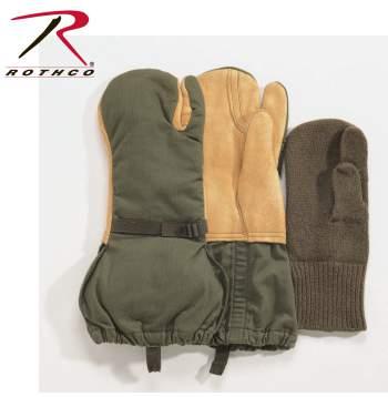 Trigger Finger Mittens,GI Surplus,surplus gloves,mittens,mittens with liners,military gloves,sniper gloves,tactical gloves,used surplus gloves,army gear,army surplus